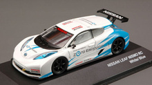 J-COLLECTION 1:43 - NISSAN LEAF NISMO RC 2011 WHITE/BLUE