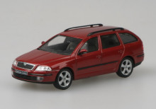 ABREX 1:43 - SKODA OCTAVIA II COMBI (2004) RED FLAMENCO METALLIC