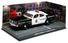 ATLAS 1:43 - DODGE MONACO POLICE JAMES BOND 'A VIEW TO A KILL'