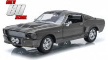 """GREENLIGHT 1:24 - FORD MUSTANG """"ELEANOR"""" 1967 - GONE IN 60 SEC. 2000, GREY"""