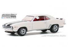 GREENLIGHT 1:64 - CHEVROLET CAMARO Z/28 1969 *MUSCLE SERIES 23*, DOVER WHITE WITH BLACK STRIPES & RED INTERIOR