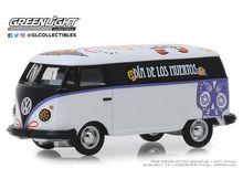GREENLIGHT 1:64 - VOLKSWAGEN TYPE 2 PANEL VAN DIA DE LOS MUERTOS 'HOBBY EXCLUSIVE' 2019, WHITE/BLACK/PURPLE