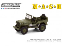 GREENLIGHT 1:64 - WILLYS MB JEEP 1942 (M*A*S*H 1972-83 TV SERIES) *HOLLYWOOD SERIES 30*, GREEN