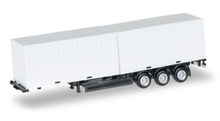 HERPA 1:87 - 40 ft. Containerchassis Krone with 2 x 20 ft. Container, Chassis black