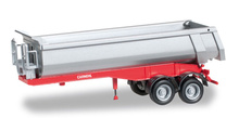 HERPA 1:87 - Carnehl dump trailer 2-axle, red