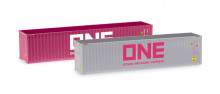 "HERPA 1:87 Container-Set 2x40 ft. ""ONE / ONE"""