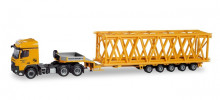 "HERPA 1:87 - Mercedes-Benz Arocs L 6x4 low boy semitrailer with load ""Franz Bracht"""