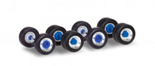 HERPA 1:87 Set of wheels for trucks chromium/blue Content: 5 pieces