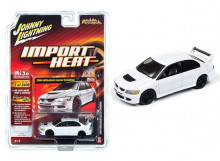 JOHNNY LIGHTNING 1:64 - MITSUBISHI LANCER EVO, WHITE