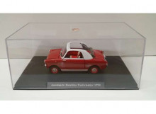 MAGAZINE MODELS 1:24 - AUTOBIANCHI BIANCHINA TRASFORMABILE 1958 FW03, RED WITH WHITE ROOF