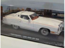 "MAGAZINE MODELS 1:43 - CADILLAC CORVORADO ""LIVE AND LET DIE"", WHITE"
