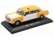 MAGAZINE MODELS 1:43 - MERCEDES 240D 1970 *BEIRUT TAXI*, WHITE/YELLOW
