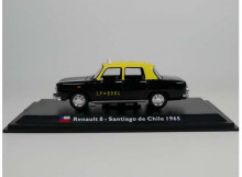 MAGAZINE MODELS 1:43 - RENAULT 8 1965 *SANTIAGO DE CHILE TAXI*, BLACK/YELLOW