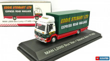 MAGAZINE MODELS 1:76 - MAN L2000 BOX STOBART, WHITE/RED/GREEN