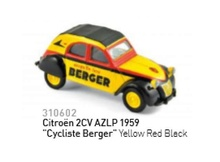 NOREV 1:64 - CITROEN 2CV 1959 AZLP CYCLISTE, YELLOW/RED/BLACK
