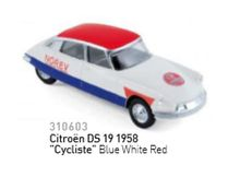 NOREV 1:64 - CITROEN DS CYCLISTE 1958, BLUE/WHITE/RED