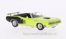 RICKO 1:87 - PLYMOUTH HEMI CUDA CONVERTIBLE, YELLOW/DECORATED