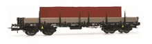 Rivarossi HO (1:87) - DB, Remms 665, stake wagon with red brick load, epoch IV