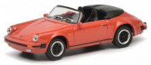 SCHUCO 1:87 - PORSCHE 911 CARRERA 3.2 SPEEDSTER, RED