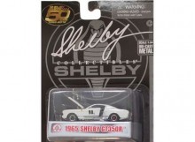 SHELBY COLLECTIBLES 1:64 - SHELBY GT350R 1965 #98, WHITE/BLUE STRIPES