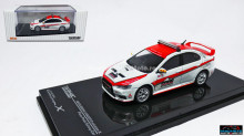 TARMAC 1:64 - MITSUBISHI EVO X PIKES PEAK SAFETY CAR, WHITE/RED