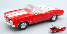 WELLY 1:24 - CHEVROLET CHEVELLE SS 454 1971 RED W/WHITE STRIPES