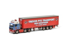 WSI 1:50 - Volvo F12 Curtainside Trailer 3 axle Trevor Pye Transport Shropshire