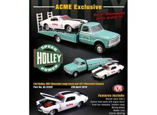 ACME 1:64 - *HOLLEY* 1967 CHEVROLET RAMP TRUCK WITH 1971 CHEVROLET CAMARO ON TOP.