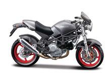 MAISTO 1:18 - DUCATI MONSTER S4, GREY
