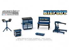 GREENLIGHT 1:64 - BIGFOOT MONSTER TRUCK *SHOP TOOL ACCESSORIES SERIES 2*, BLUE