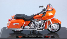 MAISTO 1:18 - HARLEY DAVIDSON FLTR ROAD GLIDE 2002 METALLIC ORANGE