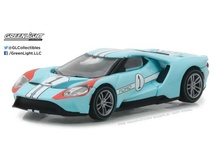 GREENLIGHT 1:64 - FORD GT 2017, 1966 #1 FORD GT40 MK II TRIBUTE 'FORD GT RACING HERITAGE SERIES 1' LIGHT BLUE/ORANGE