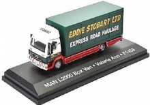 ATLAS 1:76 - MAN L2000 BOX VAN STOBART, GREEN/WHITE