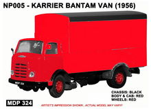 BASE TOYS MODELS 1:148 - KARRIER BANTAM VAN - RED