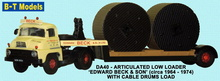 BASE TOYS MODELS 1:76 - LOWLOADER & CABLE DRUM - EDWARD BECK