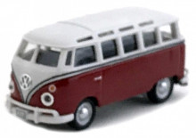 CARARAMA 1:72 - VW T1 SAMBA, RED/WHITE