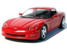 GREENLIGHT 1:24 - CORVETTE COUPE 2005, VICTORY RED