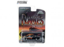 GREENLIGHT 1:64 - CHEVROLET NOMAD 1955 FLAMES THE SERIES *HOBBY EXCLUSIVE*, BLACK WITH FLAME