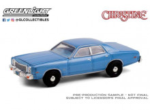 GREENLIGHT 1:64 - DETECTIVE RUDOLPH JUNKINS 1977 PLYMOUTH FURY (CHRISTINE 1983) *HOLLYWOOD SERIES 30*, RED/WHITE
