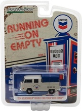 GREENLIGHT 1:64 - VOLKSWAGEN DOUBLE CAB PICKUP WITH CANOPY CHEVRON 1974, 'RUNNING ON EMPTY SERIES 2'