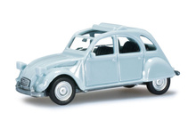 HERPA 1:87 - Citroen 2 CV with folding top open, light blue