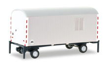 HERPA 1:87 - construction trailer, white