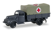"HERPA 1:87 - Ford cologne canvas trailer ""Rotes Kreuz"""