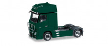 HERPA 1:87 - Mercedes-Benz Actros Gigaspace rigid tractor with bumper and head lights, mossy green