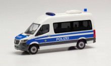 """HERPA 1:87 - Mercedes-Benz Sprinter '18 box high roof """"Mobile police office vehicle Berlin"""""""