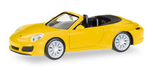 HERPA 1:87 - Porsche 911 Carrera 4S Cabrio, racing yellow