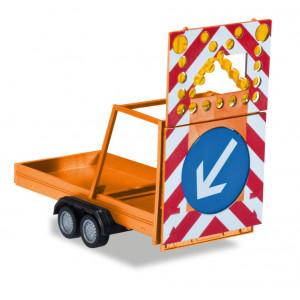 HERPA 1:87 - safety traffic Trailer, communal orange