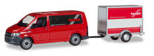 HERPA 1:87 - VOLKSWAGEN T6 BUS WITH BOX TRAILER 'HERPA' TRAILER FROM VK-MODELLE