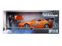 JADA 1:24 - TOYOTA SUPRA 1995 *FAST AND FURIOUS*, ORANGE