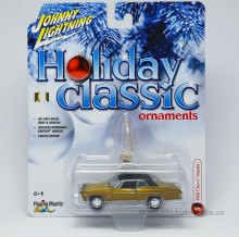 JOHNNY LIGHTNING 1:64 - CHEVROLET IMPALA 1968 *HOLIDAY CLASSIC ORNAMENTS* CANDY GOLD